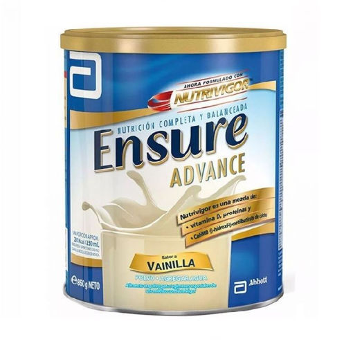 ENSURE ADVANCE SABOR VAINILLA LATA 850 GR